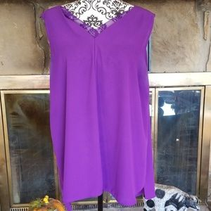 Cato Women's 18/20W Sleveless purple Tunic